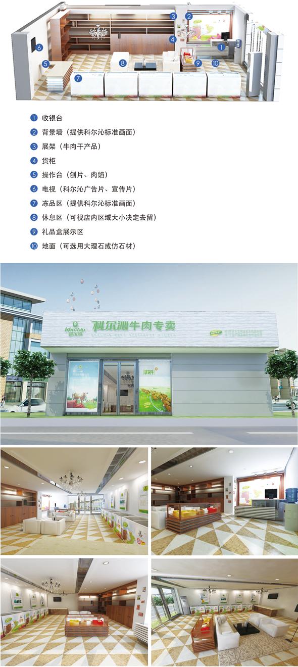 科尔沁牛业旗舰店装修标准示例